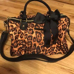Betsey Johnson cheetah bag with long strap